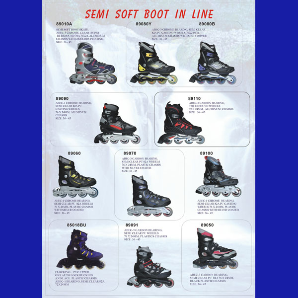 Semi Soft Boot In Line Skates.(Semi-Soft Inline Series)