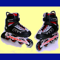 """Speed Runner! Special"" Semi-Soft Boot Aluminium Inline Skates(89R342A + 89R352A Controllable)"