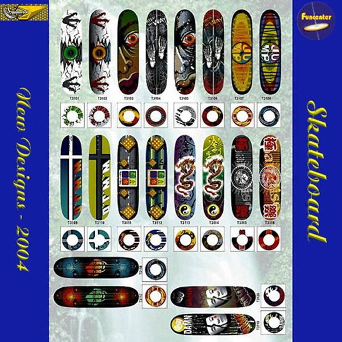 Newe Skateboard Designs 2004(New Designs 2004 A)